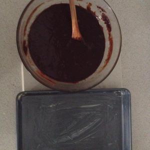 Brownie mix ready to go