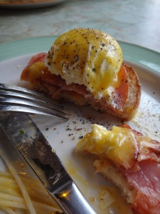 Runny yolks are a must have with the perfect Eggs Benedict