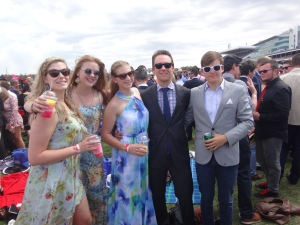 The 735 Fam looking sharp at the races