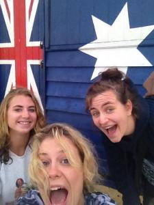 Obligatory selfie with the 'Australia' beach hut